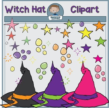 {Freebie} Witch Hat and Stars Clipart