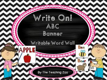 {Freebie!} Write On!  ABC Writable Banner