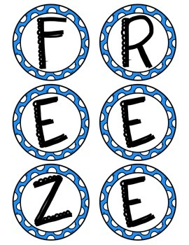 """""""Freeze Time"""" Telling Time Activity"""