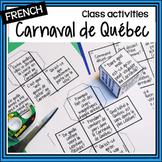 French Carnaval de Québec–Activités-dice, word matching, vocabulary
