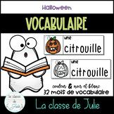 ☀️French☀️ Halloween Vocabulary Strips - Mots de vocabulaire - Halloween