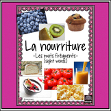 (French) La nourriture – les mots fréquents – sight words