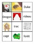 [French Language Art] Le voyage d'Oregon: matching game an