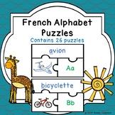 -French Letters of French Alphabet Game Puzzles lettre de l'alphabet francais