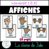☀️French☀️ Numbers 1-10 Posters -  Affiches des nombres 1 à 10