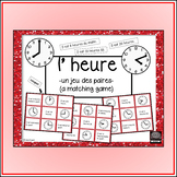 {French} – Telling Time matching game – un jeu des paires – l'heure