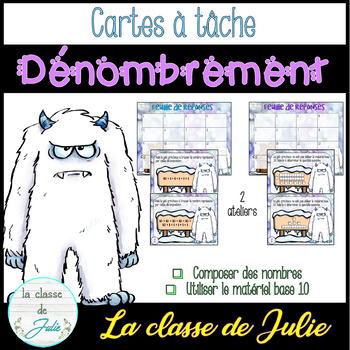 ☀️French☀️ Winter Place Value and Composing Numbers - Dénombrement + base 10