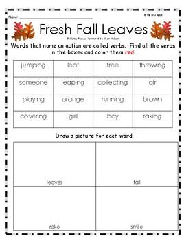 """""""Fresh Fall Leaves"""" Guided Reading Program Work"""