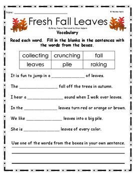 """""""Fresh Fall Leaves"""" Activities for Guided Reading & Writing"""