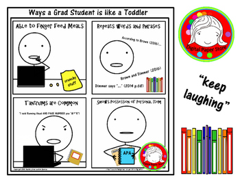 (Keep Laughing Poster) - How a Grad Student is Like a Toddler