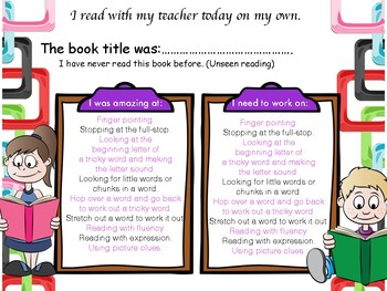 Reading Assessment.  Reading strategies/ fluency/words One-to-one with teacher