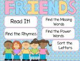 """Friends"" Poem of the Week Flipchart for ActivInspire"