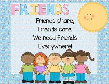 """Friends"" Poem of the Week Flipchart for ActivInspire"