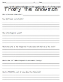 """Frosty the Snowman"" Constructed Response Practice"