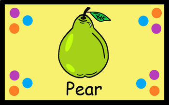 """""""Fruit"""" Clip Art, and """"Fruit"""" Flash Cards"""