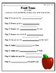 """""""Fruit Trees"""" Guided Reading Program Activities"""