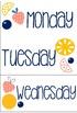 *Fruit Themed* Daily Calendar