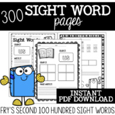 {Fry's 2nd 100} Sight Word Practice Pages