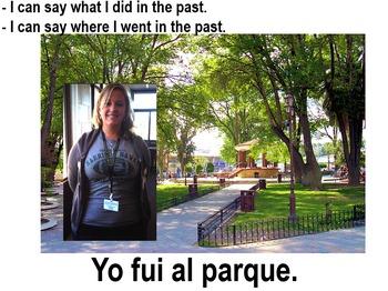 """Fui"" - Preterite Yo Form Introduction - POWERPOINT"
