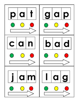 *Full Edition* Short Vowel CVC Blending Cards