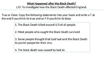 *Full Lesson* Impact of the Black Death