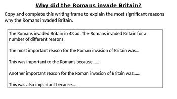 *Full Lesson* Roman Empire: Invasion of Britain