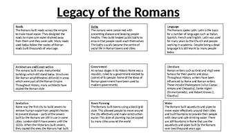 *Full Lesson* Roman Empire: Legacy of the Roman