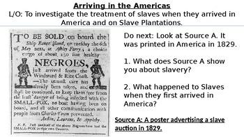 * Full Lesson* Slavery: Life as a Slave
