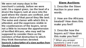 * Full Lesson* Slavery: Life as a Slave