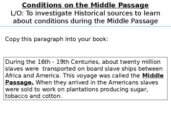 *Full Lesson* Slavery: The Middle Passage