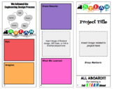 """Full STEAM Ahead"" Design Process Brochure Template"