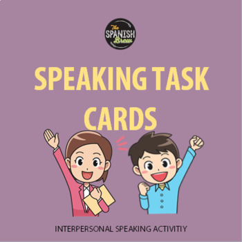(Full set) Speaking task  cards LA ESCUELA REGLAS Spanish 2 (Realidades 1A)