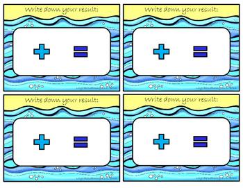 **Fun ADDITION MATS- OCEAN Themed!!