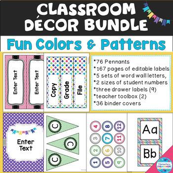 """""""Fun Colors"""" Decor Bundle - Seven Fun Colors & Patterns"""
