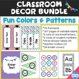 """Fun Colors"" Decor Bundle - Seven Fun Colors & Patterns"