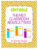 Editable Theme Classroom Newsletters