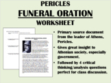 """""""Funeral Oration - Pericles - Global/World History"""