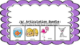 /G/ Articulation and Language Activity Bundle