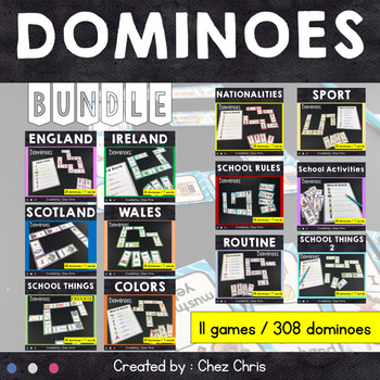 Dominoes - 11 games  BUNDLE