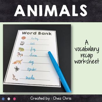 Dominoes - Animals Vocabulary