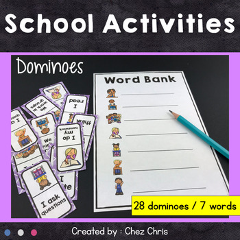 Dominoes - At school Vocabulary