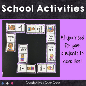 Dominoes - At school Vocabulary