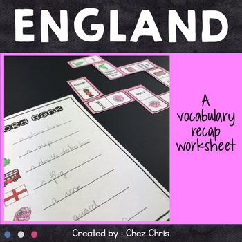 Dominoes -  England Vocabulary