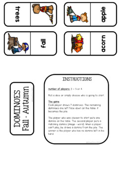 Dominoes -  Fall / Autumn Vocabulary