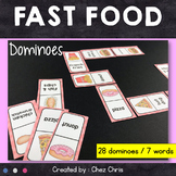 Dominoes - Fast Food Vocabulary