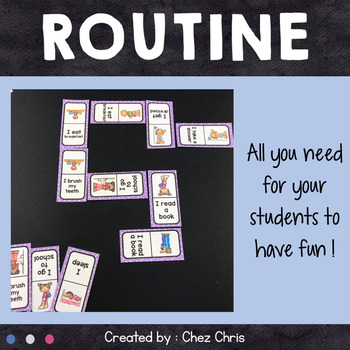 Dominoes -  Routine Vocabulary