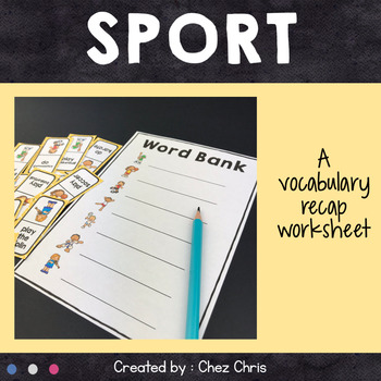 Dominoes -  Sport and Activities Vocabulary