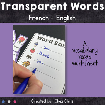 [GAME]Dominoes : Transparent Words (English - French) - 28 dominoes
