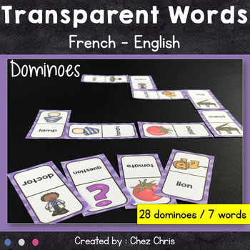 Dominoes - Transparent Words (English - French)