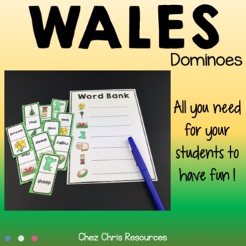 Dominoes -  Wales Vocabulary